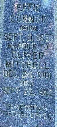 CONNER MITCHELL  2, EFFIE - White County, Arkansas | EFFIE CONNER MITCHELL  2 - Arkansas Gravestone Photos