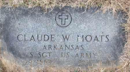 MOATS (VETERAN), CLAUDE W - White County, Arkansas | CLAUDE W MOATS (VETERAN) - Arkansas Gravestone Photos