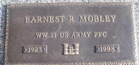 MOBLEY (VETERAN WWII), EARNEST R - White County, Arkansas   EARNEST R MOBLEY (VETERAN WWII) - Arkansas Gravestone Photos
