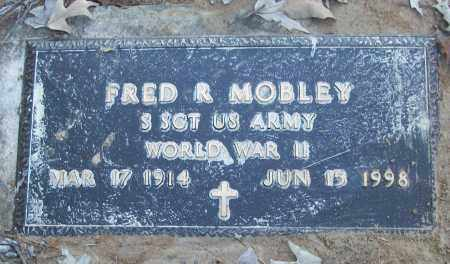 MOBLEY (VETERAN WWII), FRED R - White County, Arkansas   FRED R MOBLEY (VETERAN WWII) - Arkansas Gravestone Photos