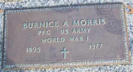 MORRIS (VETERAN WWI), BURNICE A - White County, Arkansas   BURNICE A MORRIS (VETERAN WWI) - Arkansas Gravestone Photos