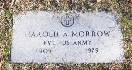 MORROW (VETERAN), HAROLD A - White County, Arkansas | HAROLD A MORROW (VETERAN) - Arkansas Gravestone Photos