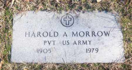MORROW (VETERAN), HAROLD A - White County, Arkansas | HAROLD A MORROW (VETERAN) - Arkansas Gravestone Photos