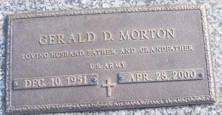 MORTON (VETERAN), GERALD D - White County, Arkansas | GERALD D MORTON (VETERAN) - Arkansas Gravestone Photos