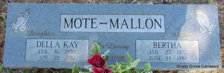MALLON, BERTHA (MOTHER) - White County, Arkansas | BERTHA (MOTHER) MALLON - Arkansas Gravestone Photos