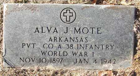 MOTE (VETERAN WWI), ALVA J - White County, Arkansas | ALVA J MOTE (VETERAN WWI) - Arkansas Gravestone Photos