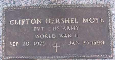 MOYE (VETERAN WWII), CLIFTON HERSHEL - White County, Arkansas | CLIFTON HERSHEL MOYE (VETERAN WWII) - Arkansas Gravestone Photos