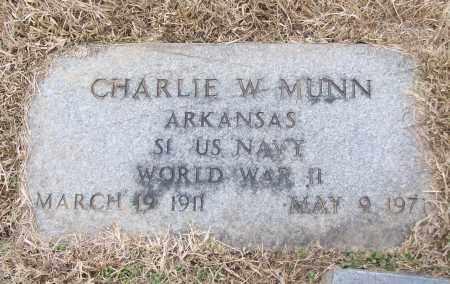 MUNN (VETERAN WWII), CHARLIE W - White County, Arkansas | CHARLIE W MUNN (VETERAN WWII) - Arkansas Gravestone Photos