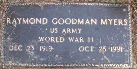 MYERS (VETERAN WWII), RAYMOND GOODMAN - White County, Arkansas   RAYMOND GOODMAN MYERS (VETERAN WWII) - Arkansas Gravestone Photos