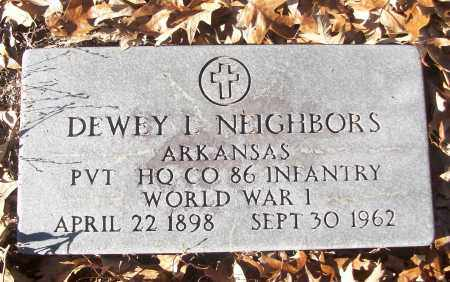 NEIGHBORS (VETERAN WWI), DEWEY L - White County, Arkansas   DEWEY L NEIGHBORS (VETERAN WWI) - Arkansas Gravestone Photos