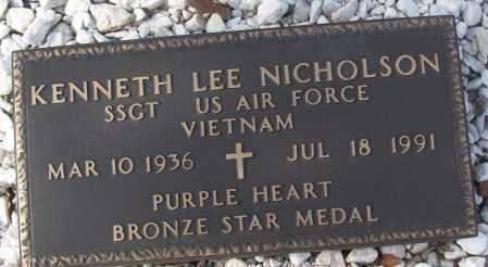 NICHOLSON (VETERAN VIET), KENNETH LEE - White County, Arkansas | KENNETH LEE NICHOLSON (VETERAN VIET) - Arkansas Gravestone Photos