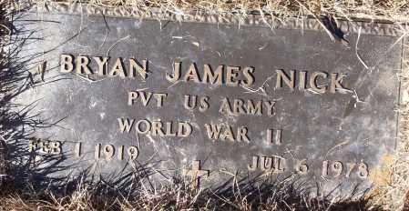 NICK (VETERAN WWII), BRYAN JAMES - White County, Arkansas   BRYAN JAMES NICK (VETERAN WWII) - Arkansas Gravestone Photos