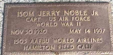 NOBEL, JR (VETERAN WWII), ISOM JERRY - White County, Arkansas   ISOM JERRY NOBEL, JR (VETERAN WWII) - Arkansas Gravestone Photos