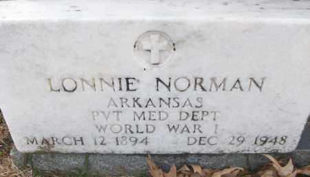NORMAN (VETERAN WWI), LONNIE - White County, Arkansas   LONNIE NORMAN (VETERAN WWI) - Arkansas Gravestone Photos