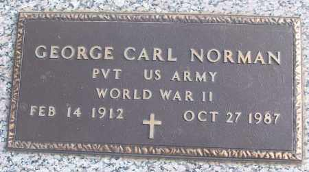 NORMAN (VETERAN WWII), GEORGE CARL - White County, Arkansas | GEORGE CARL NORMAN (VETERAN WWII) - Arkansas Gravestone Photos