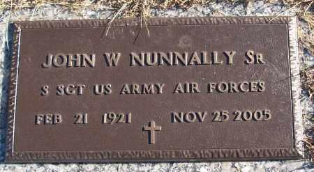 NUNNALLY, SR (VETERAN), JOHN W - White County, Arkansas | JOHN W NUNNALLY, SR (VETERAN) - Arkansas Gravestone Photos