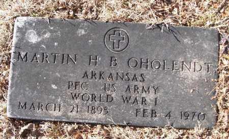 OHOLENDT (VETERAN WWI), MARTIN H B - White County, Arkansas | MARTIN H B OHOLENDT (VETERAN WWI) - Arkansas Gravestone Photos
