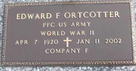 ORTCOTTER (VETERAN WWII), EDWARD F - White County, Arkansas | EDWARD F ORTCOTTER (VETERAN WWII) - Arkansas Gravestone Photos