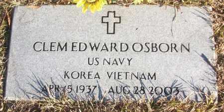 OSBORN (VETERAN 2 WARS), CLEM EDWARD - White County, Arkansas | CLEM EDWARD OSBORN (VETERAN 2 WARS) - Arkansas Gravestone Photos