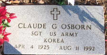 OSBORN (VETERAN KOR), CLAUDE G - White County, Arkansas | CLAUDE G OSBORN (VETERAN KOR) - Arkansas Gravestone Photos