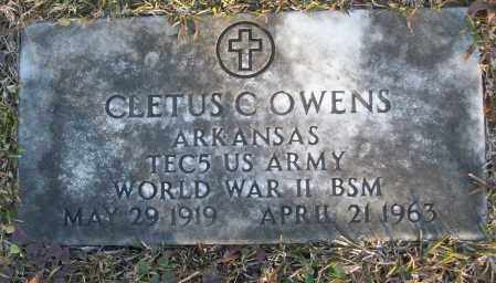 OWENS (VETERAN WWII), CLETUS C - White County, Arkansas   CLETUS C OWENS (VETERAN WWII) - Arkansas Gravestone Photos