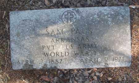 PACK (VETERAN WWI), SAM - White County, Arkansas   SAM PACK (VETERAN WWI) - Arkansas Gravestone Photos