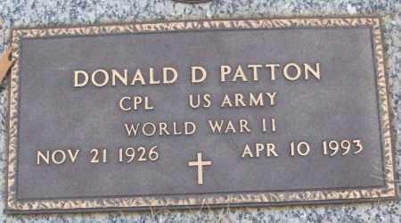 PATTON (VETERAN WWII), DONALD D - White County, Arkansas   DONALD D PATTON (VETERAN WWII) - Arkansas Gravestone Photos