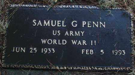 PENN (VETERAN WWII), SAMUEL G - White County, Arkansas | SAMUEL G PENN (VETERAN WWII) - Arkansas Gravestone Photos
