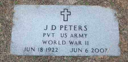 PETERS (VETERAN WWII), J D - White County, Arkansas | J D PETERS (VETERAN WWII) - Arkansas Gravestone Photos
