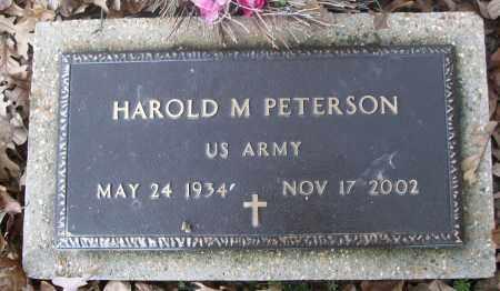 PETERSON  (VETERAN), HAROLD M - White County, Arkansas   HAROLD M PETERSON  (VETERAN) - Arkansas Gravestone Photos
