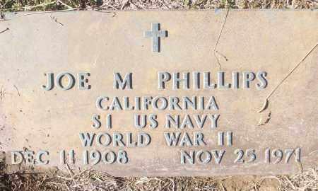 PHILLIPS (VETERAN WWII), JOE M - White County, Arkansas   JOE M PHILLIPS (VETERAN WWII) - Arkansas Gravestone Photos