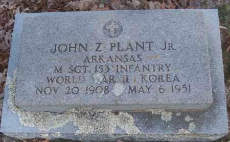 PLANT, JR (VETERAN 2 WARS), JOHN Z. - White County, Arkansas   JOHN Z. PLANT, JR (VETERAN 2 WARS) - Arkansas Gravestone Photos