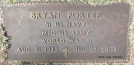 PORTER (VETERAN WWII), BRYAN - White County, Arkansas   BRYAN PORTER (VETERAN WWII) - Arkansas Gravestone Photos