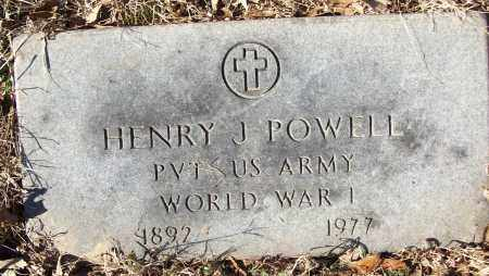POWELL (VETERAN WWI), HENRY J - White County, Arkansas | HENRY J POWELL (VETERAN WWI) - Arkansas Gravestone Photos