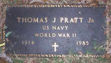 PRATT, JR (VETERAN WWII), THOMAS J - White County, Arkansas   THOMAS J PRATT, JR (VETERAN WWII) - Arkansas Gravestone Photos