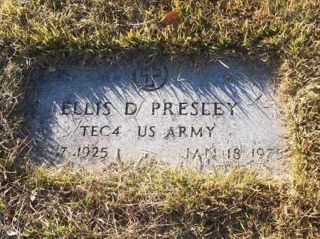PRESLEY (VETERAN), ELLIS D - White County, Arkansas | ELLIS D PRESLEY (VETERAN) - Arkansas Gravestone Photos