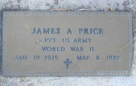PRICE (VETERAN WWII), JAMES A - White County, Arkansas   JAMES A PRICE (VETERAN WWII) - Arkansas Gravestone Photos