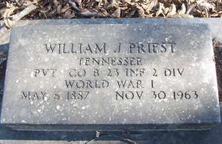 PRIEST (VETERAN WWI), WILLIAM J - White County, Arkansas | WILLIAM J PRIEST (VETERAN WWI) - Arkansas Gravestone Photos