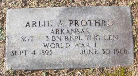 PROTHRO (VETERAN WWI), ARLIE A - White County, Arkansas | ARLIE A PROTHRO (VETERAN WWI) - Arkansas Gravestone Photos