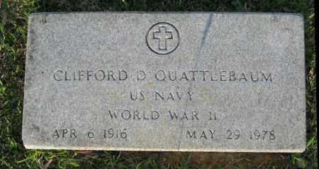 QUATTLEBAUM  (VETERAN WWII), CLIFFORD D. - White County, Arkansas | CLIFFORD D. QUATTLEBAUM  (VETERAN WWII) - Arkansas Gravestone Photos