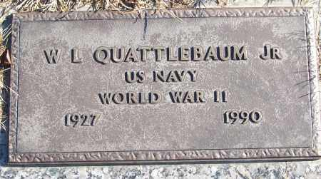 QUATTLEBAUM, JR (VETERAN WWII), W L - White County, Arkansas   W L QUATTLEBAUM, JR (VETERAN WWII) - Arkansas Gravestone Photos