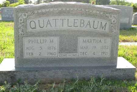 QUATTLEBAUM, MARTHA E. - White County, Arkansas | MARTHA E. QUATTLEBAUM - Arkansas Gravestone Photos