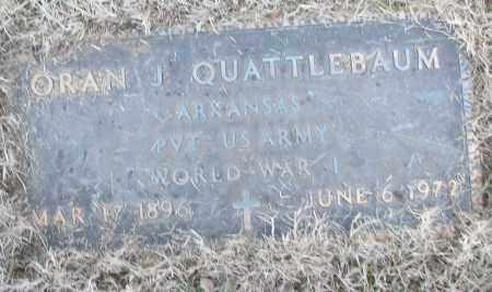 QUATTLEBAUM (VETERAN WWI), ORAN J - White County, Arkansas   ORAN J QUATTLEBAUM (VETERAN WWI) - Arkansas Gravestone Photos
