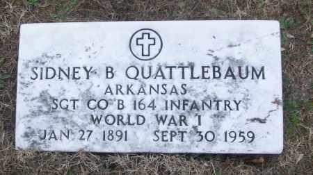 QUATTLEBAUM (VETERAN WWI), SIDNEY B - White County, Arkansas | SIDNEY B QUATTLEBAUM (VETERAN WWI) - Arkansas Gravestone Photos