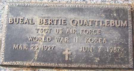 QUATTLEBUM (VETERAN 2 WARS), BUEAL BERTIE - White County, Arkansas | BUEAL BERTIE QUATTLEBUM (VETERAN 2 WARS) - Arkansas Gravestone Photos