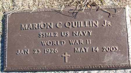 QUILLIN, JR (VETERAN WWII), MARION C - White County, Arkansas   MARION C QUILLIN, JR (VETERAN WWII) - Arkansas Gravestone Photos