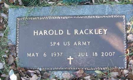 RACKLEY (VETERAN), HAROLD L - White County, Arkansas | HAROLD L RACKLEY (VETERAN) - Arkansas Gravestone Photos