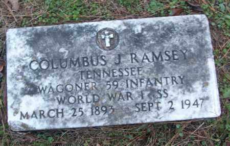 RAMSEY (VETERAN WWI), COLUMBUS J - White County, Arkansas | COLUMBUS J RAMSEY (VETERAN WWI) - Arkansas Gravestone Photos