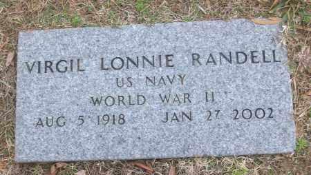 RANDELL (VETERAN WWII), VIRGIL LONNIE - White County, Arkansas | VIRGIL LONNIE RANDELL (VETERAN WWII) - Arkansas Gravestone Photos