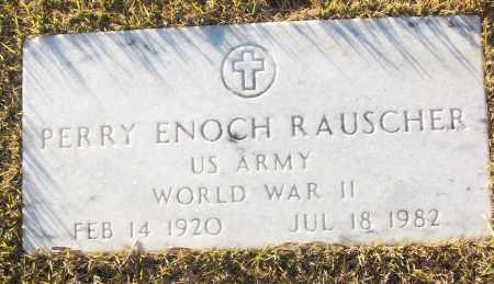 RAUSCHER (VETERAN WWII), PERRY ENOCH - White County, Arkansas | PERRY ENOCH RAUSCHER (VETERAN WWII) - Arkansas Gravestone Photos